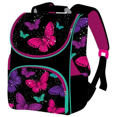Школьный рюкзак для девочки Smile Бабочки ранец-короб 33х26х16 см