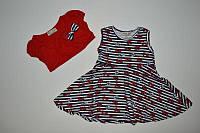 Акція Плаття балеро полоска бантики (червоний) Pati