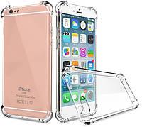 Противоударный силиконовый чехол Shock iPhone 6 / 6s Прозрачный