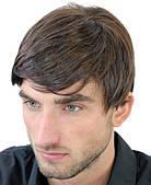 Мужской парик  цвет чёрный, каштановый, медно  - коричневый