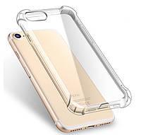 Противоударный силиконовый чехол Shock iPhone 7 / 8 / SE 2020 Прозрачный