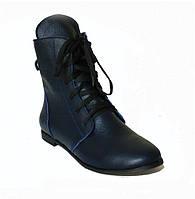 Ботинки темно синий флотар, фото 1