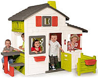 Большой детский игровой домик Smoby 310209 с чердаком для детей, фото 1
