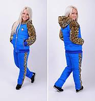 Стильный женский молодежный утепленный костюм на синтепоне, разм С,М,Л