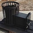 Печь для бани Бочка 15 м³ с выносом и стеклом, фото 2