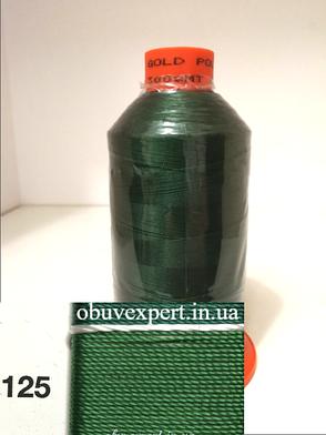 Швейная нить Gold Polydea 40 № 125, цв.  зеленый, фото 2