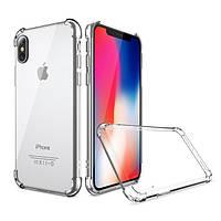 Противоударный силиконовый чехол Shock iPhone X / Xs Прозрачный