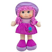 Кукла мягконабивная с вышитым лицом, 36 см, фиолетовая, арт. 53914-1
