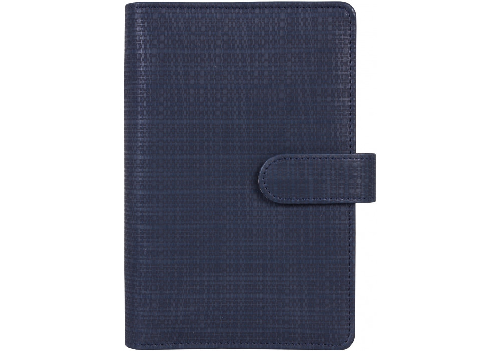 Бізнес-організатор, магнітна застібка, штучна шкіра, на кільця*, комбінована обкладинка, 130 синій