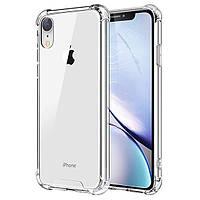 Противоударный силиконовый чехол Shock iPhone XR Прозрачный
