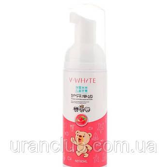 Пенка-мусс для чистки зубов V-White Fresh Strawberry для детской автоматической зубной щетки Beaver