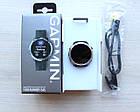Смарт-годинник Garmin Forerunner 645 Black with Stainless Hardware з Чорним Ремінцем, фото 7