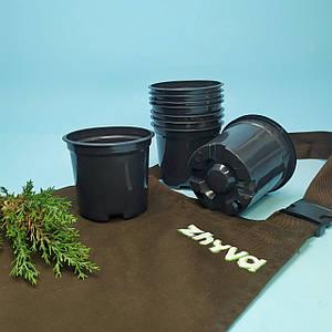 Горщик для розсади 350мл круглий, гнучкий пластик поліпропілен