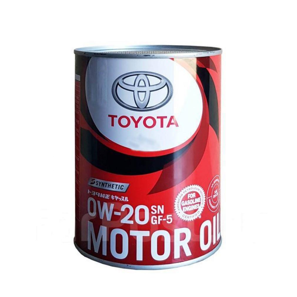 Моторное масло TOYOTA MOTOR OIL SN/GF-5 0W20 1л.
