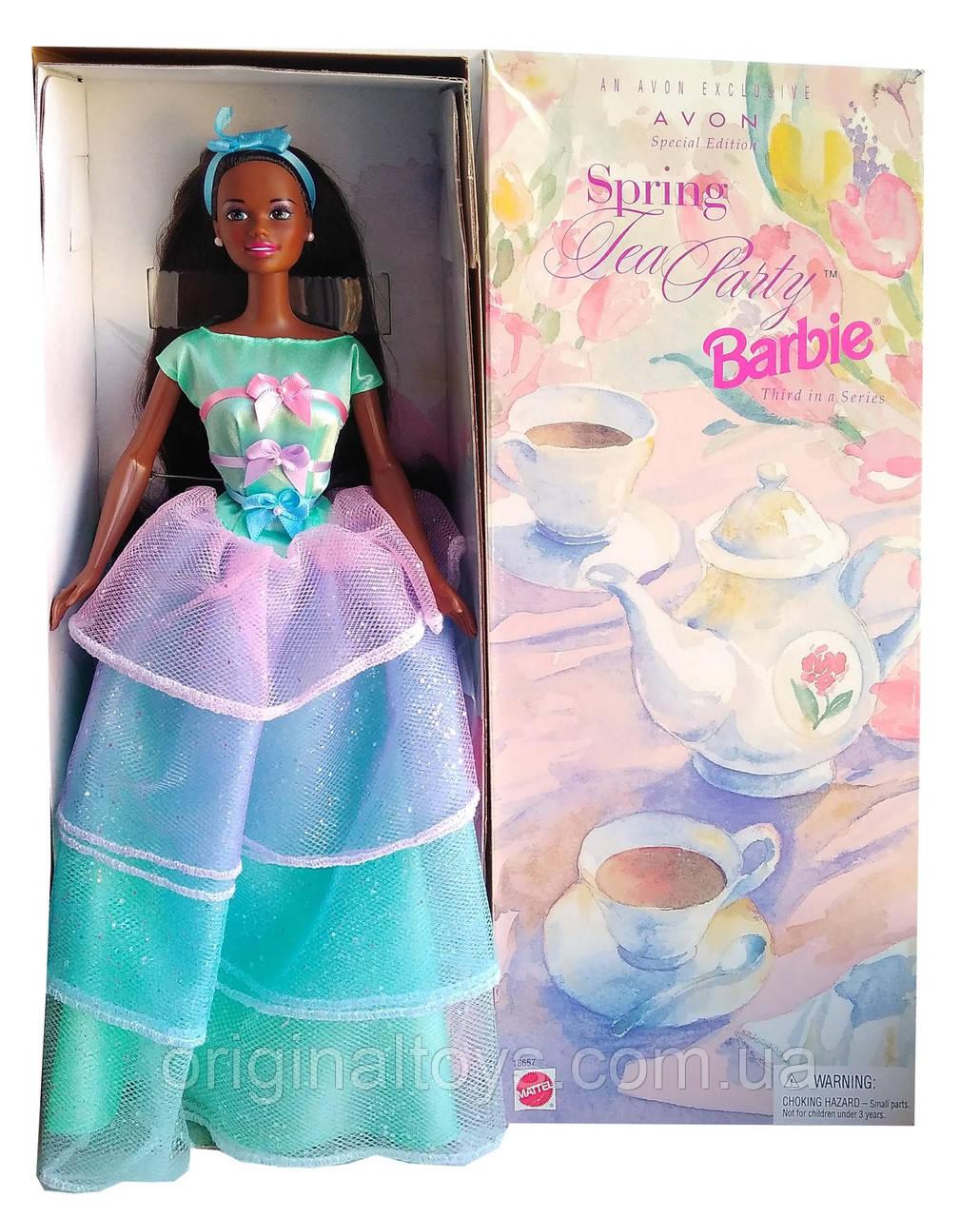 Коллекционная кукла Барби Весеннее чаепитие Barbie Spring Tea Party Avon 1997 Mattel 18657