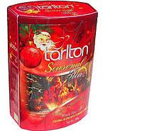 Чай подарочный зимний Волшебные колокольчики с ароматом шиповника черный 200 г в музыкальной банке