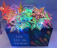 Гирлянда звездочки металлические 20 LED (силиконовый провод)