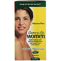 Nature's Plus, Источник жизни, для женщин, мультивитамины и минеральные добавки, 60 таблеток, фото 1