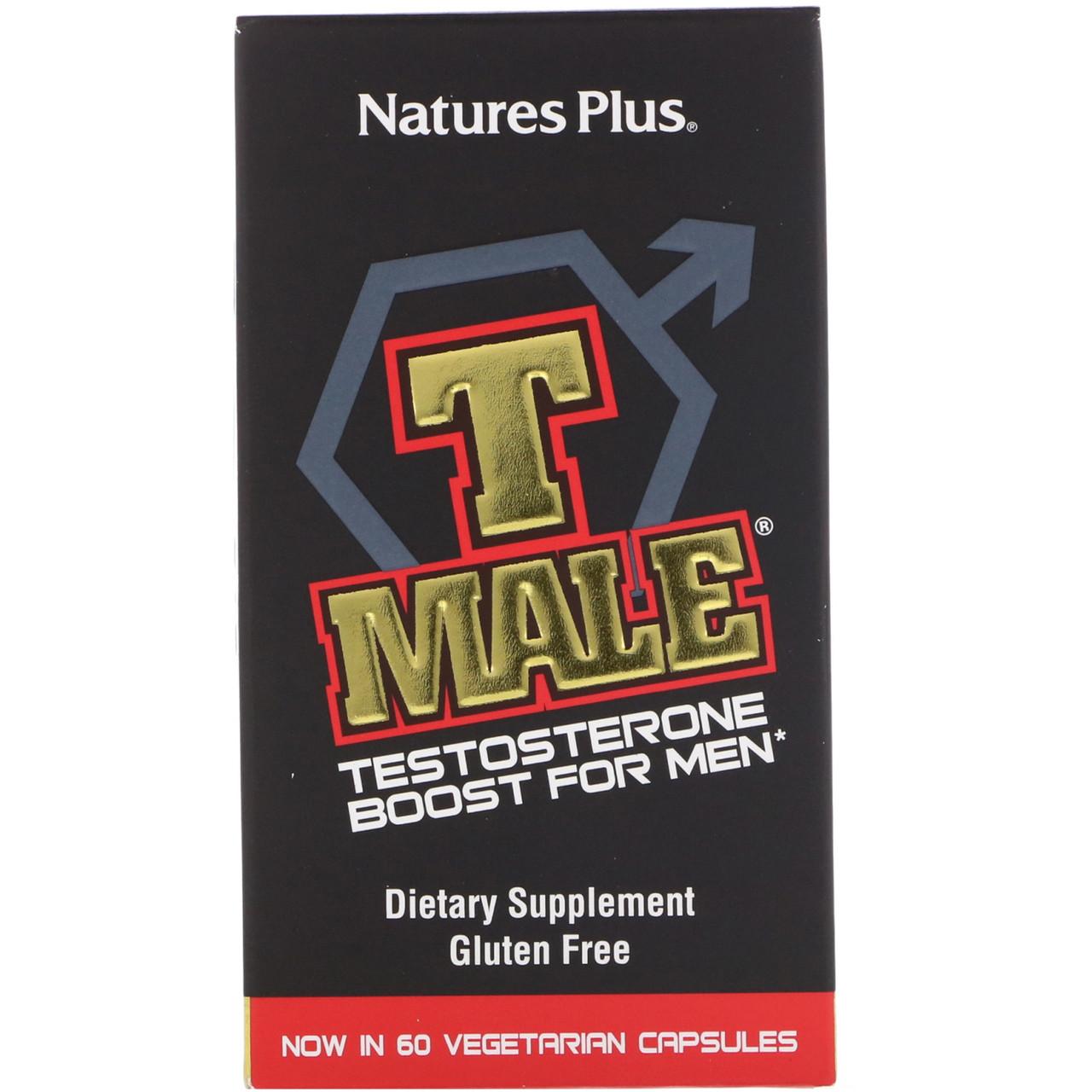 Nature's Plus, T Male, стимулятор тестостерона для мужчин, 60 капсул