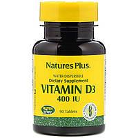 Nature's Plus, Витамин D3, 400 МЕ, 90 таблеток