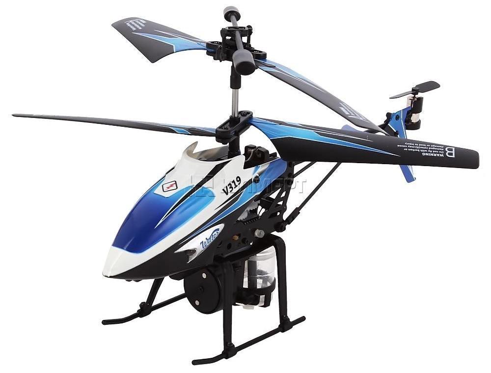 Вертоліт на радіоуправлінні 3-до WL Toys V319 SPRAY водяна гармата синій