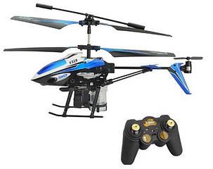 Вертоліт на радіоуправлінні 3-до WL Toys V319 SPRAY водяна гармата синій, фото 2