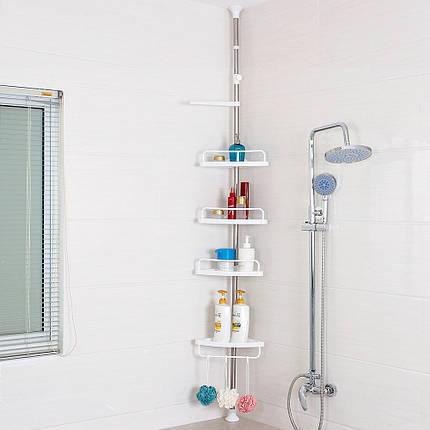 Угловая металлическая полка для ванной /стойка Multi Corner Shelf, фото 2
