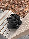 Женские черные угги UGG с бантом, фото 7