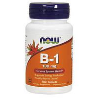 NOW Vitamin B-1 100 mg (100 таб) тиамин нау витамин б1