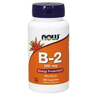 Витамины NOW Vitamin B-2 100 mg (100 капс) витамин б 2 нау