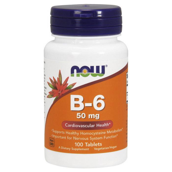 Витамин Б6 Now Foods Vitamin B-6 50 mg (100 таб) нау фудс