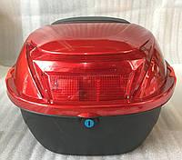 Кофр красный неломающийся  с катафотом, фото 1