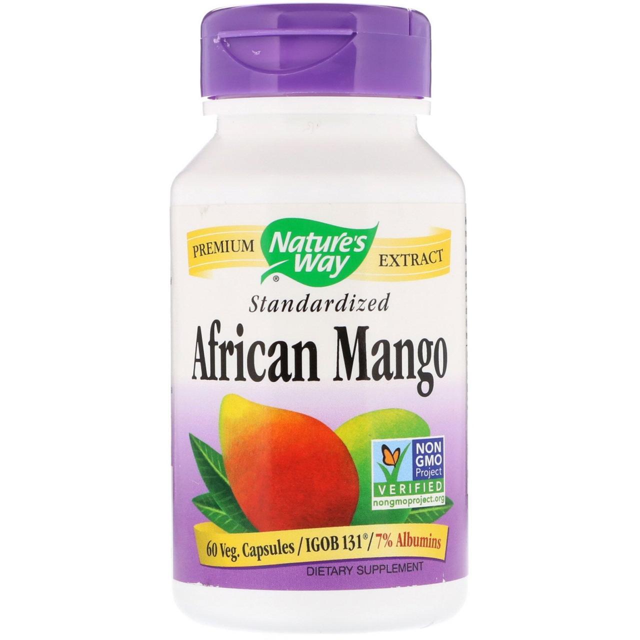 Африканський манго, African Mango, nature's Way, 60 капсул