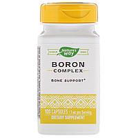 Борон хелат, Boron Chelate, Nature's Way, 3 мг, 100 капсул