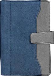 Бізнес-органайзер Optima 190х130 мм 96 сторінок Синьо-сірий