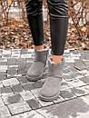 Женские серые угги UGG натуральная замша, фото 7
