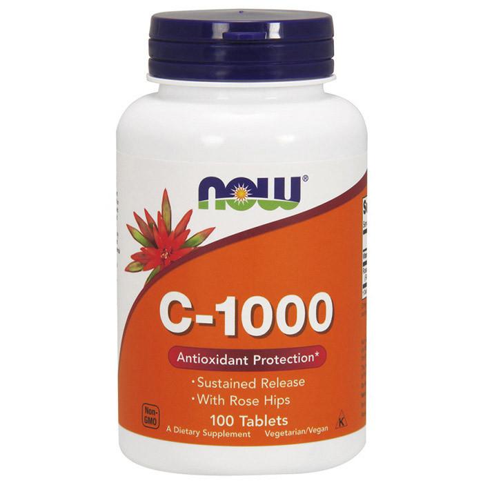 Витамин C Now Foods Vitamin C-1000 (100 таб) нау фудс