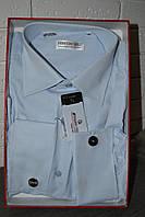 Светло-голубая мужская классическая рубашка под запонку FERRERO GIZZI (размеры 40,41)