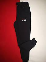 Теплые спортивные мужские штаны Fila на флисе