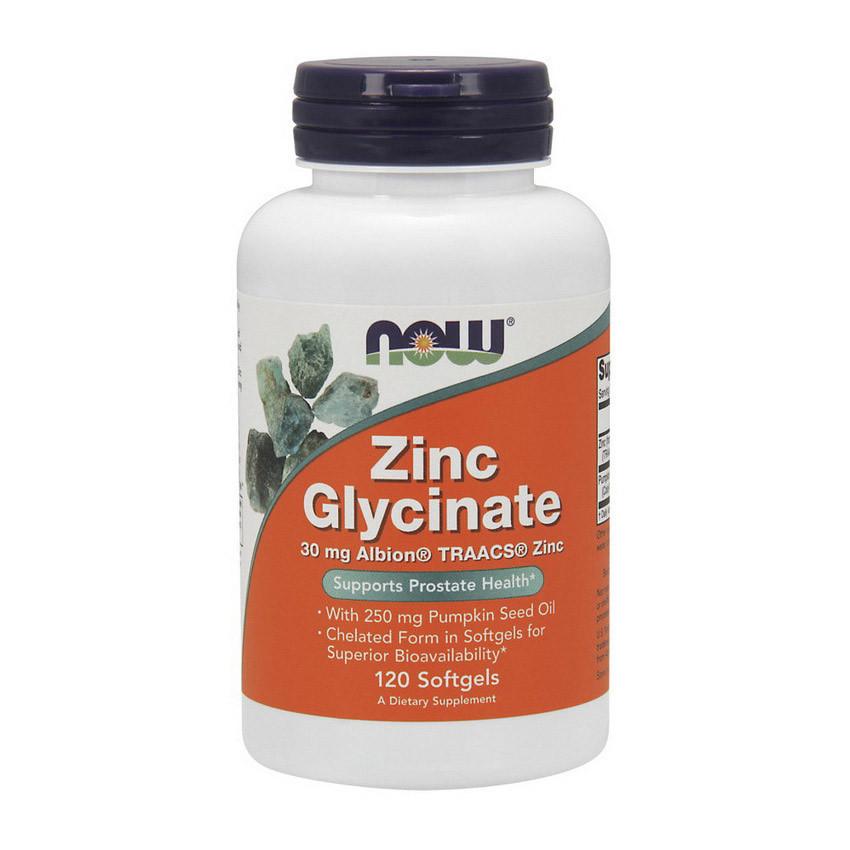 Цинк глицинат Now Foods Zinc Glycinate (120 капс) нау фудс