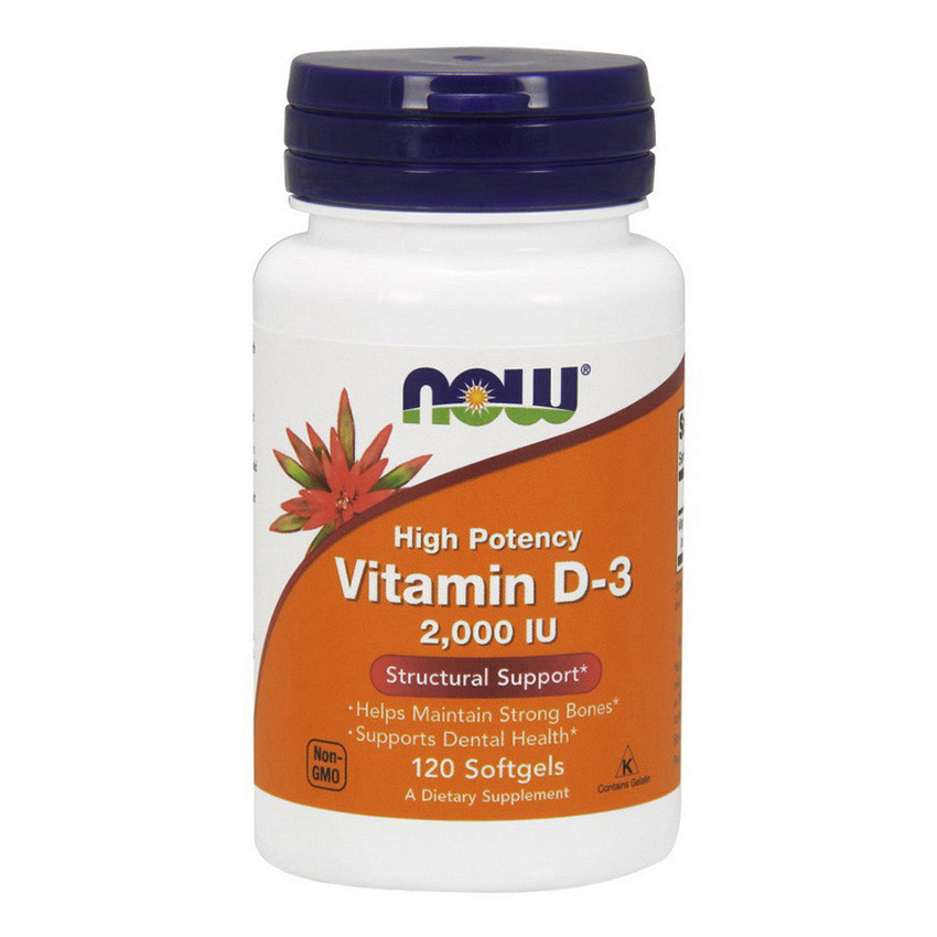 Витамин д3 Now Foods Vitamin D-3 2000 IU (120 капс) нау фудс