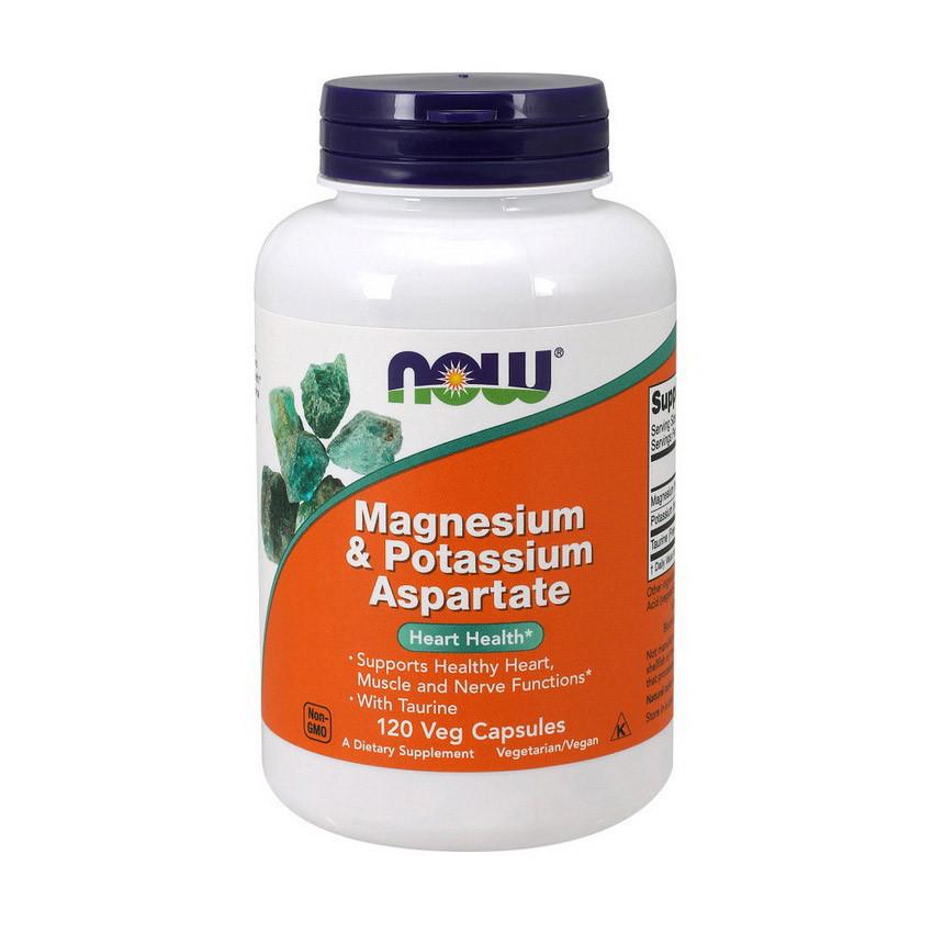 Магний калий Now Foods Magnesium & Potassium Aspartate (120 капс) нау фудс