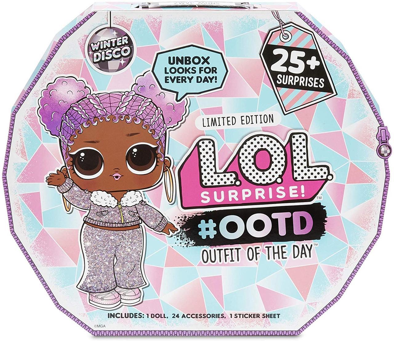 Кукла ЛОЛ Адвент календарь Зимнее диско 25+ сюрприз L.O.L. Surprise! Winter Disco