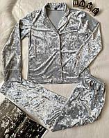 Женский костюм для дома серого цвета (0212/20)
