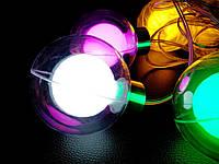 Дощ-штора гірлянда Бахрома скляні Кулі 8 LED 3 м. кольровий, фото 1