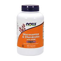 NOW Glucosamine & Chondroitin with MSM (180 капс) глюкозамин хондроитин мсм нау