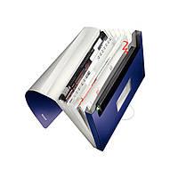 Папка пластиковая с 6-ю отделениями Leitz Style на 250 листов синяя