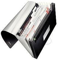 Папка пластиковая с 6-ю отделениями Leitz Style на 250 листов чёрная