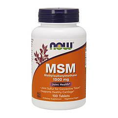 Метилсульфонилметан МСМ Now Foods MSM 1500 mg (100 таб) нау фудс