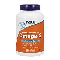 Omega-3 NOW (200 капс) нау омега 3